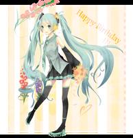 Happy Birthday Miku by Michiyone