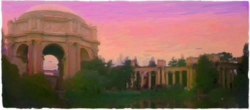 Fine Arts Palace at dusk