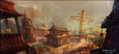 cat town by dennis-yeung