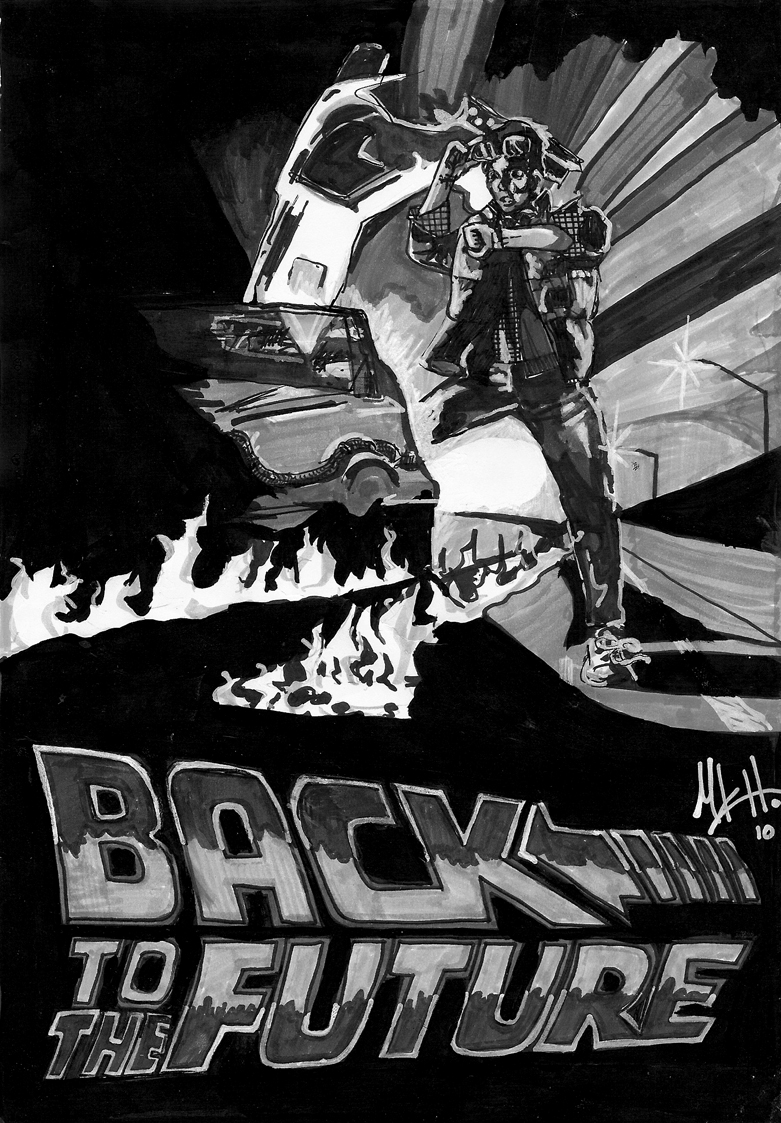 Back to the Future movie poster by michaelkhall on DeviantArt