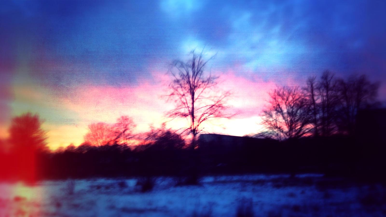 Sunset in Winter by xdarkaro