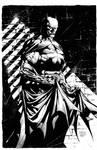 Batman Inks over DAVID FINCH