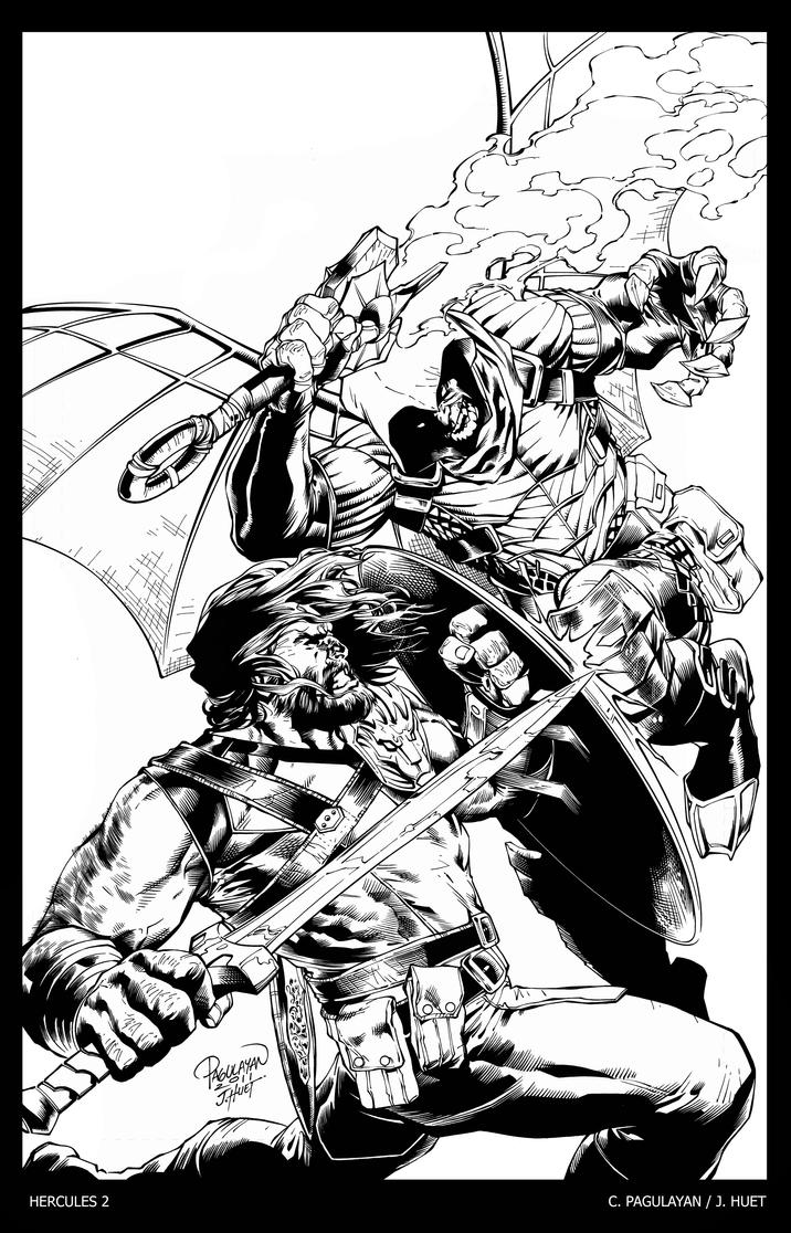 Hercules 2 cover art by knockmesilly