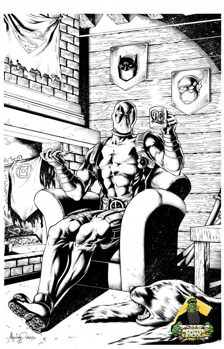 Deadpool chillin by knockmesilly