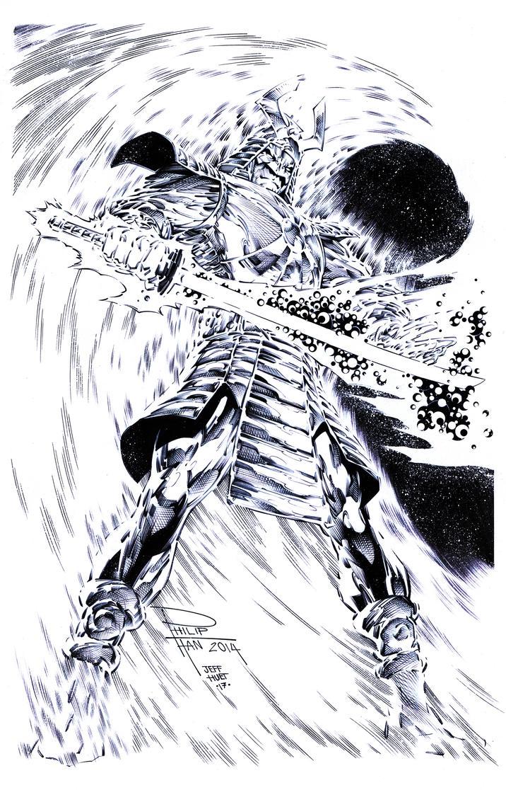 Silver Samurai by knockmesilly