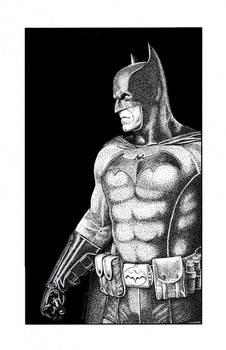 The Batman in Stippling