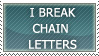 Chain Letter Stamp by Aibiki