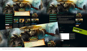 WOW Mists of Pandaria Wordpress Theme