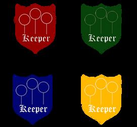 Quidditch Badges - Keeper by HogwartsLover