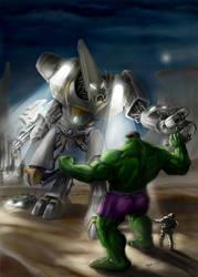 hulk vs mech