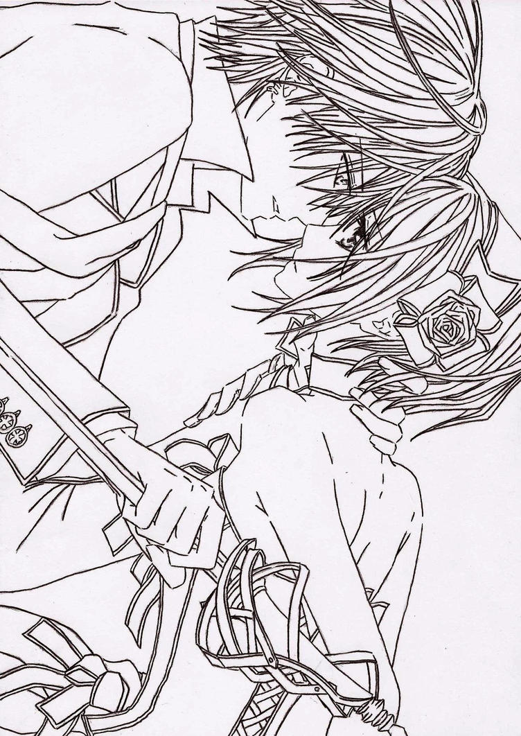 vampire knight zero coloring pages - photo#41