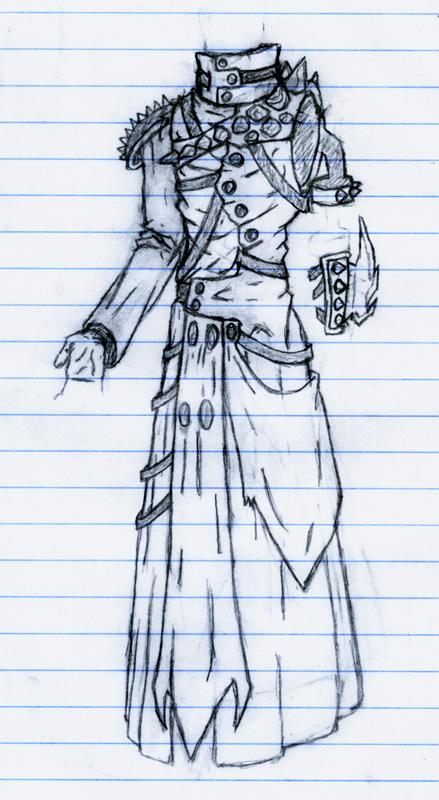 Anime Coat Design Trench Coat Design by