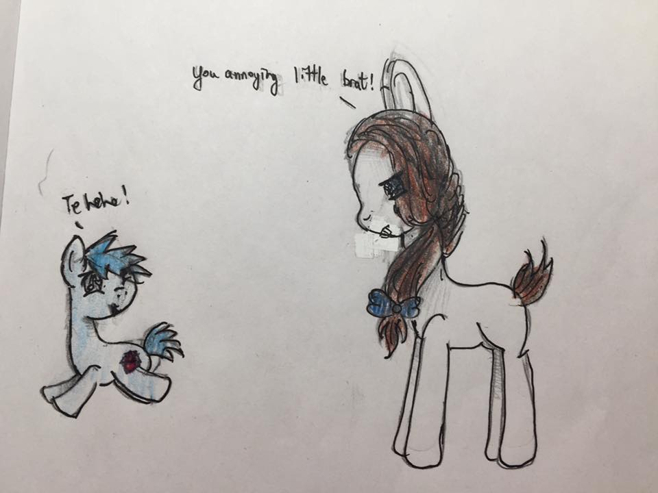Snow Dove and cheeky brother by sapphirecharming