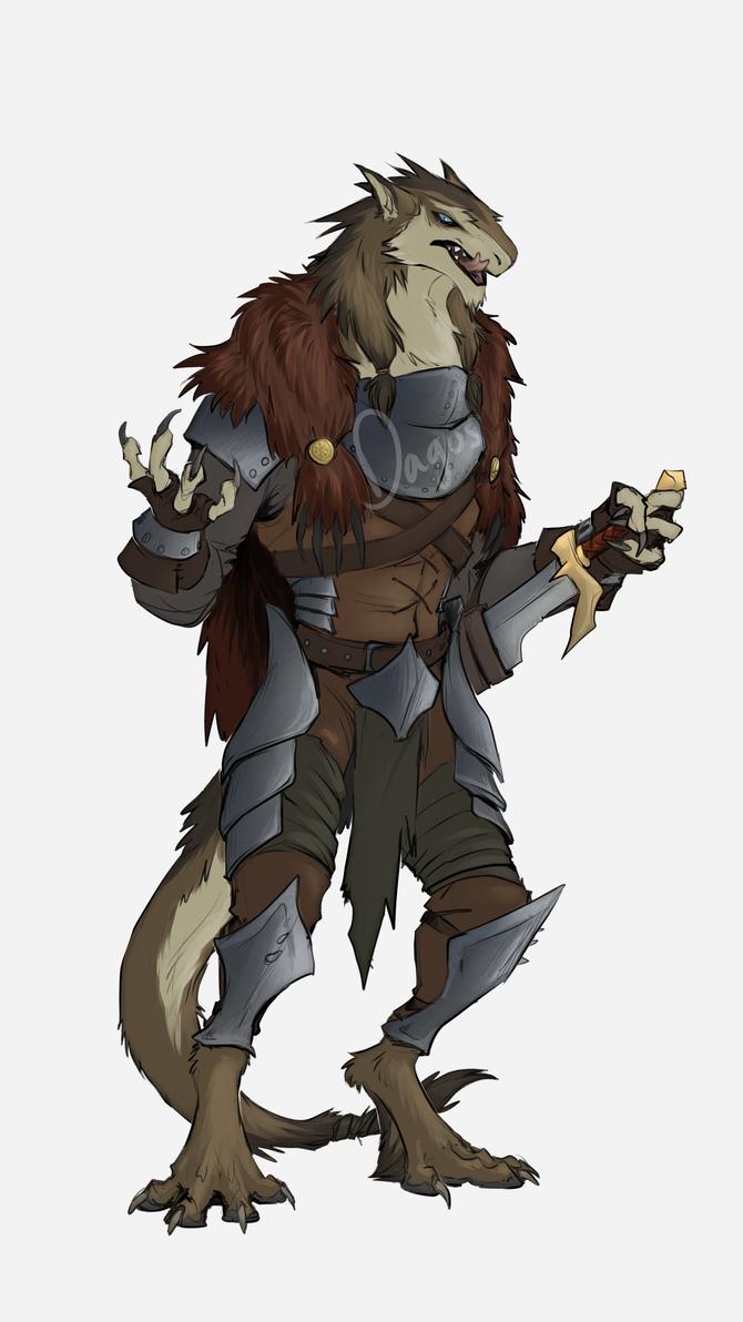evil villain sergal man by TigresToku