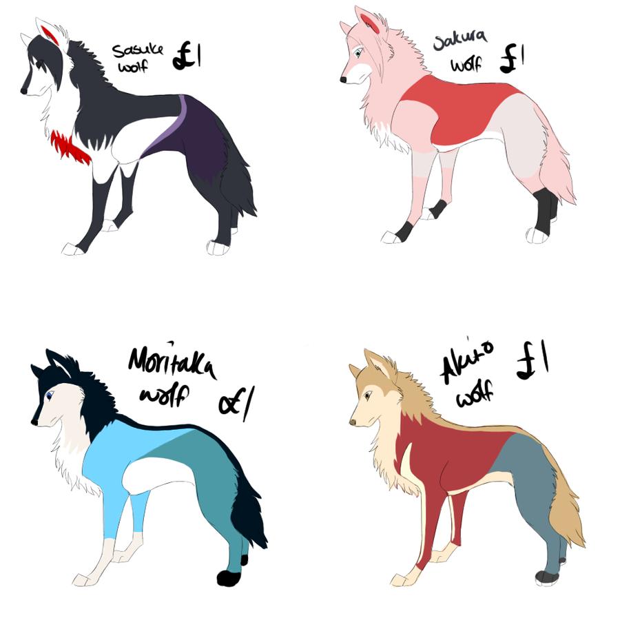 Cute Cartoon Wolves - Hot Girls Wallpaper
