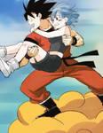 Bulma and Goku .
