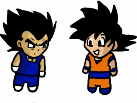 Conversation.Goku and Vegeta . by DBpictures