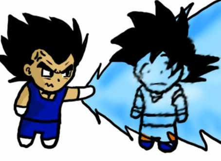 Fight . Goku and Vegeta. by DBpictures