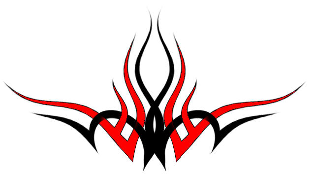 black and red designs