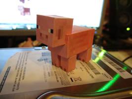minecraft pig by DrNoddy