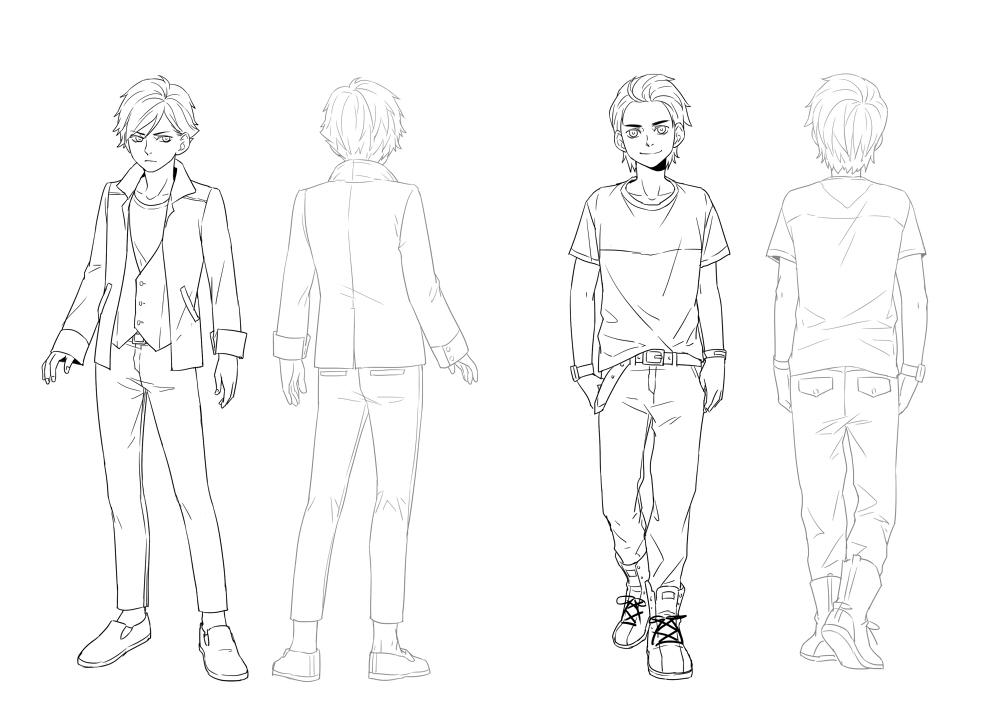 Line Art Character : Character design male by yeah on deviantart