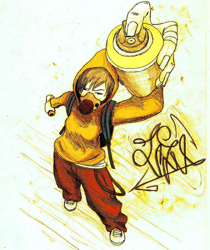 graffiti girl by...P In Graffiti