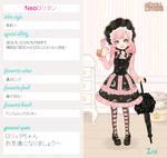 ..My lolita character card..