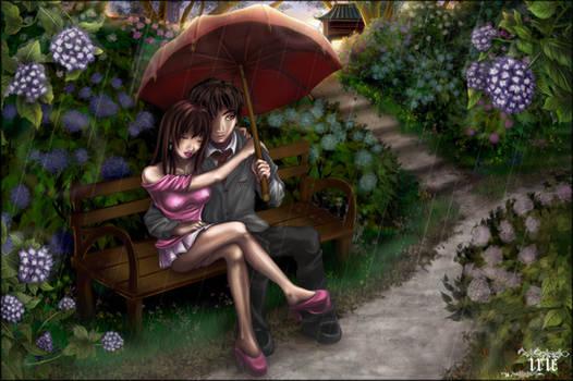 ..Lovers in the rain..