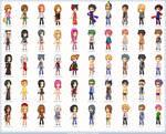 ..A bunch of pixel avatars..
