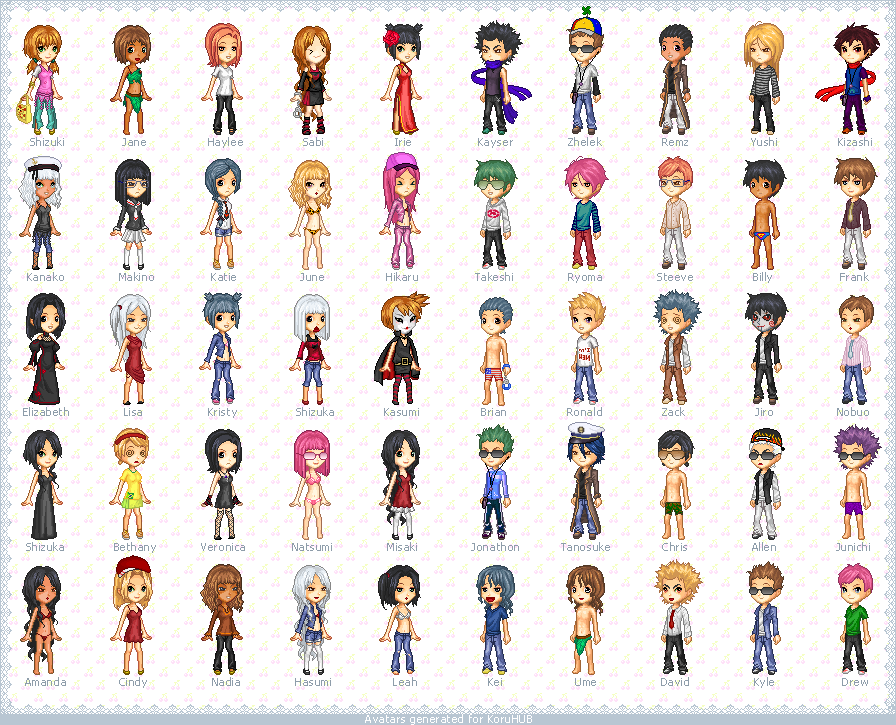A bunch of pixel avatars by koruldia on deviantart for Deviantart vrchat avatars