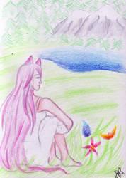 Art Trade with TsukishimaYume - Yume by PetalRain