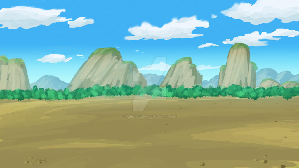 anime background landscape painting by worldsofpivot on