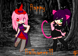Happy(late) Halloween!! by Peachy-Pixels