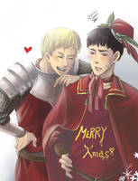 Arthur and Merlin's Xmas by GENgoodstick