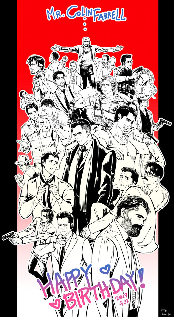 Colin Farrell HAPPY BDAY by GENgoodstick