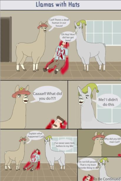 Llamas With Hats Comic Page 1 by Karinart8 on DeviantArt
