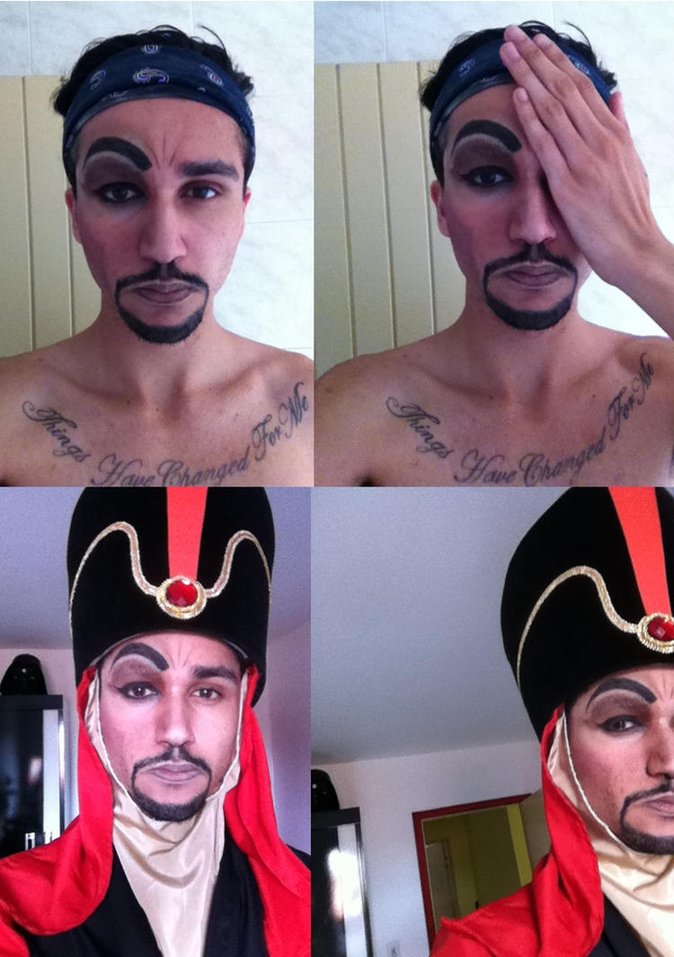 Disney - Jafar Makeup Test (only a half) by jaacksays