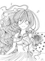 LINEART - Kumiko - Le vent des roses bleues by Rushire