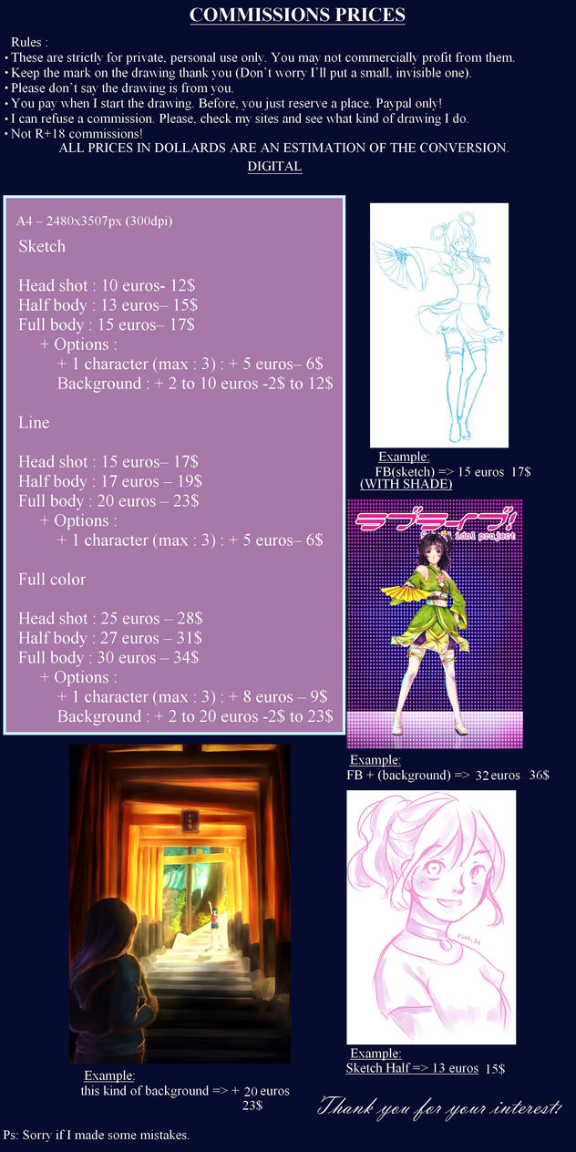 Commission prices - OPEN by Rushire