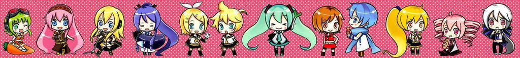 Vocaloid Sticker tape Miku by tip3361