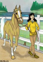Pony Olympics Vet check.A