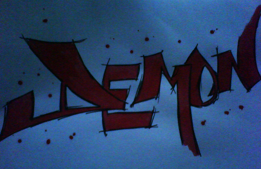 DEMON graffiti using paint by I-AM-THE-NAME on DeviantArt