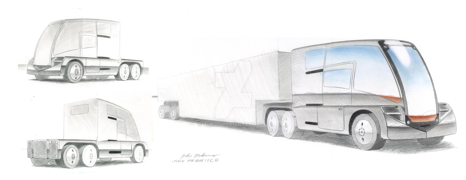 Electric Big Rig design 1 by Augos