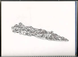 Star Wars Home One drawing by Augos