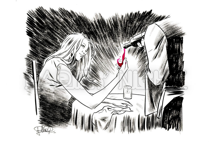 Invisible Woman - Red wine - Wine, madam? by elena-casagrande