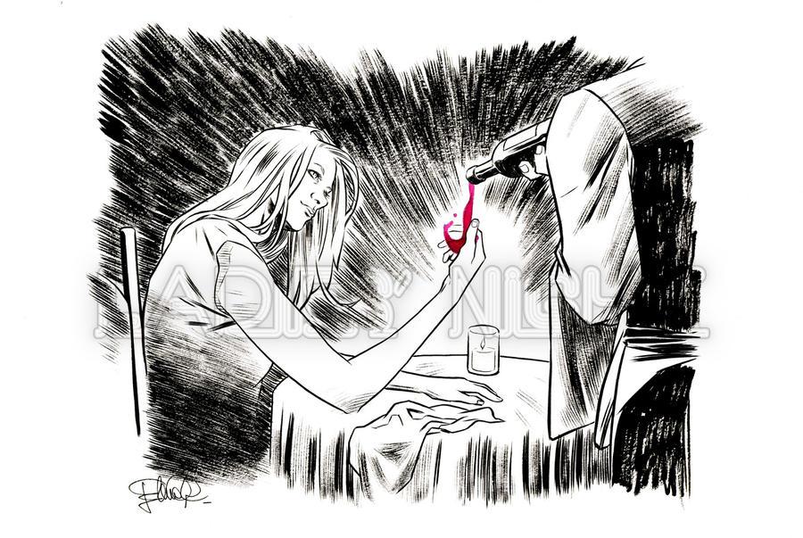 Invisible Woman - Red wine - Wine, madam? by elena-casagrande