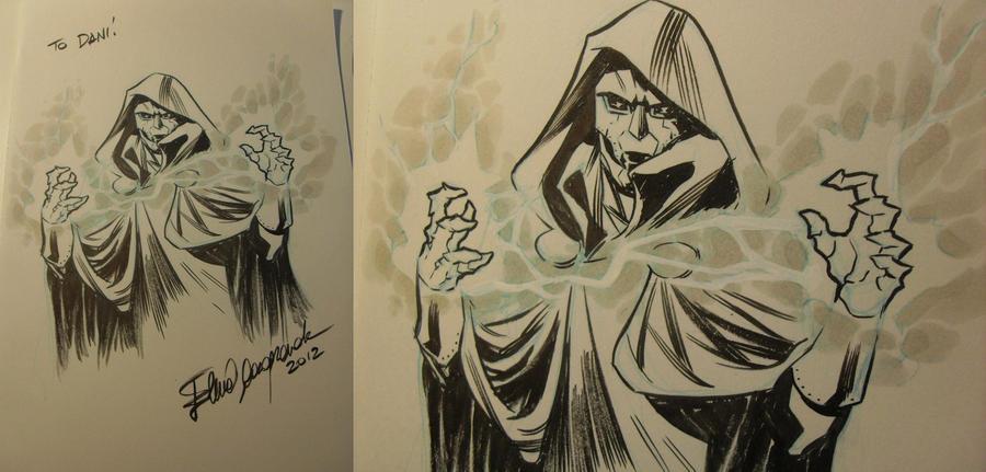 Doctor Doom Sketch by elena-casagrande