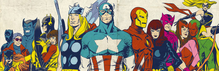 Bronze Age Avengers for Blastoff Comics - 2012