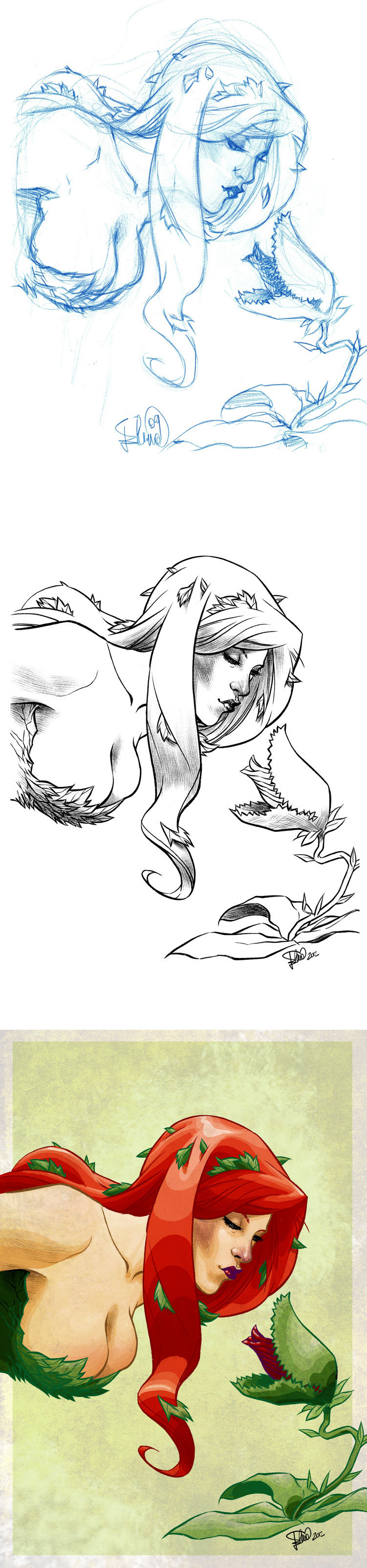 Poison Ivy...progress! by elena-casagrande