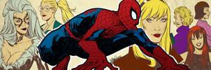 Spider-man and his women for BlastoffComics - 2012 by elena-casagrande